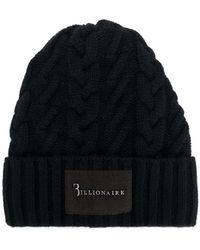 Billionaire - Cable-knit Beanie - Lyst