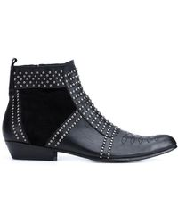 Anine Bing - Charlie Studded Leather Ankle Boots - Lyst