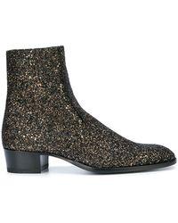 Saint Laurent - Wyatt 40 Glitter Boots - Lyst