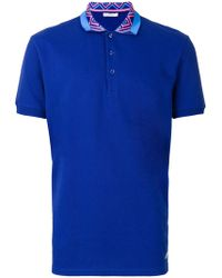 Versace - Tipped Collar Polo Shirt - Lyst