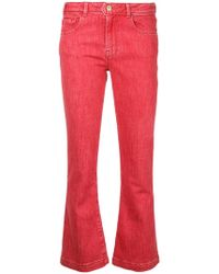 FRAME - Flared Cropped Jeans - Lyst