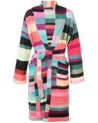 The Elder Statesman - Patched Stripe Robe - Lyst