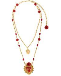Dolce & Gabbana - Sacred Heart Necklace - Lyst