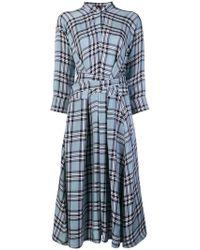 Sara Lanzi - Check Midi Dress - Lyst