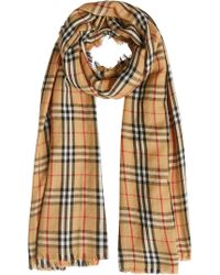 Burberry - Vintage Check Lightweight Cashmere Scarf - Lyst