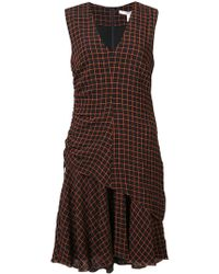 10 Crosby Derek Lam - Sleeveless V-neck Ruched Dress - Lyst