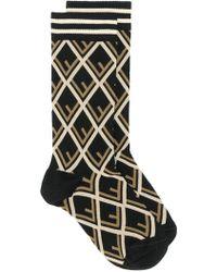 Fendi - Geometric Short Socks - Lyst