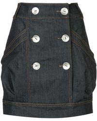 Manning Cartell - High Waisted Denim Mini Skirt - Lyst