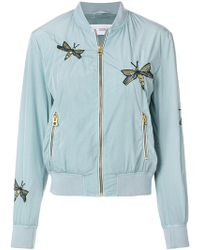 Closed - Embroidered Bomber Jacket - Lyst