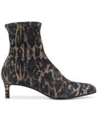 Antonio Barbato - Leopard Print Booties - Lyst
