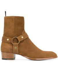 Saint Laurent - Wyatt 40 Boots - Lyst