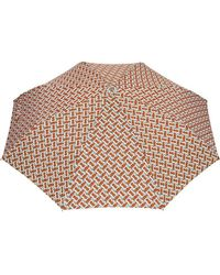 Burberry - Monogram Print Folding Umbrella - Lyst