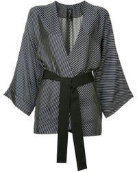 Zero + Maria Cornejo - Diagonal Stripe Kimono Blazer - Lyst