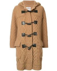 Coohem Knitted Duffle Coat - Brown