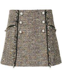 Veronica Beard - Tweed Mini Skirt - Lyst