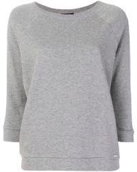 Woolrich   Cropped Sleeve Sweatshirt   Lyst
