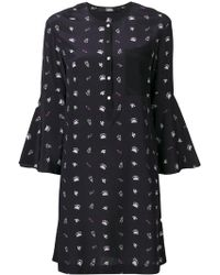 Karl Lagerfeld - Bell Sleeve Printed Dress - Lyst