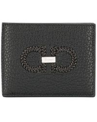 Ferragamo - Pebbled Bi-fold Wallet - Lyst