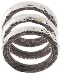 Henson - Carved Stacker Rings - Lyst