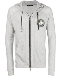 Balmain - Sweat zippé à patch logo poitrine - Lyst
