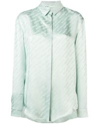 Off-White c/o Virgil Abloh - Logo Stripe Shirt - Lyst