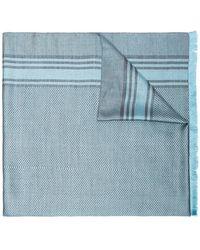 Haider Ackermann - Blue Frayed Edge Cashmere Scarf - Lyst