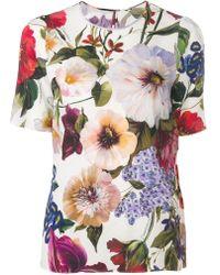 Dolce & Gabbana - Floral Print Blouse - Lyst