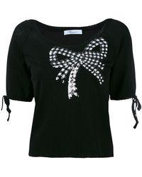 Blumarine | Sequin Embellished Shortsleeved Jumper | Lyst