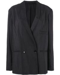 Lemaire - Double Breasted Blazer - Lyst