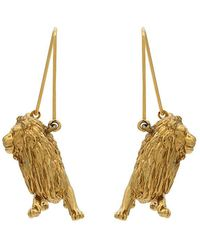 Givenchy - Gold Metallic Leo Zodiac Earrings - Lyst