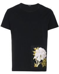 Ann Demeulemeester - Embroidered Patch T-shirt - Lyst