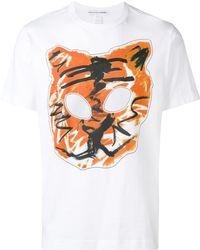 Comme des Garçons T-shirt à imprimé tigre