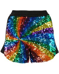 Manish Arora - Rainbow Sequin Shorts - Lyst