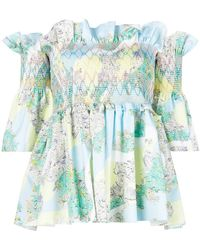 Emilio Pucci - Ruffled Off-the-shoulders Blouse - Lyst