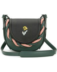 Marco De Vincenzo - Embroided Flower Crossbody Bag - Lyst