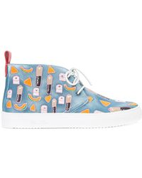 Del Toro - Patch Detail Lace-up Trainers - Lyst