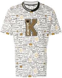 Dolce & Gabbana - King Patch Printed T-shirt - Lyst