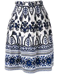 Samantha Sung - Flared Printed Skirt - Lyst