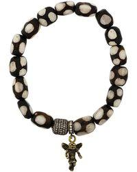 Loree Rodkin - Beaded Gold Angel Bracelet - Lyst
