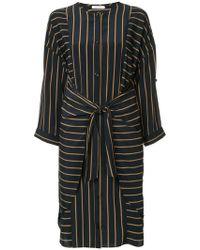 Guild Prime - Striped Belted Dress - Lyst