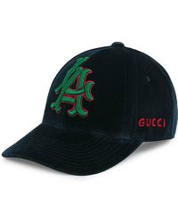 Gucci - Dark Blue Runway Baseball Hat With La Angelstm Patch - Lyst