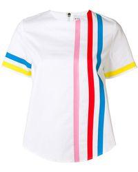 Mira Mikati - Rainbow Stripe Scuba Top - Lyst