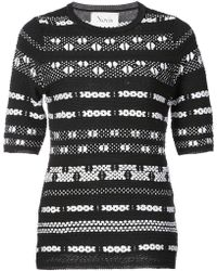 Novis - Geometric Design Jumper - Lyst