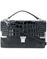Sonia by Sonia Rykiel - Crocodile Embossed Clasp Clutch - Lyst