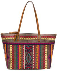 Etro - Embroidered Tote Bag - Lyst