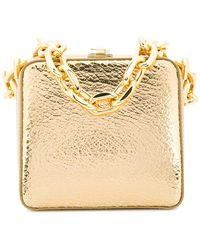 the VOLON - Chunky Chain Box Handbag - Lyst