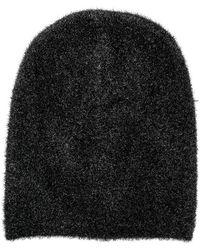 Laneus - Furry Beanie Hat - Lyst