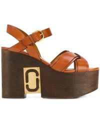 Marc Jacobs - Paloma Status Wedge Sandals - Lyst