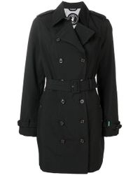 Save The Duck - Double Breasted Trench Coat - Lyst