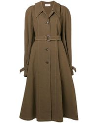 Lemaire - Belted Single Breasted Coat - Lyst